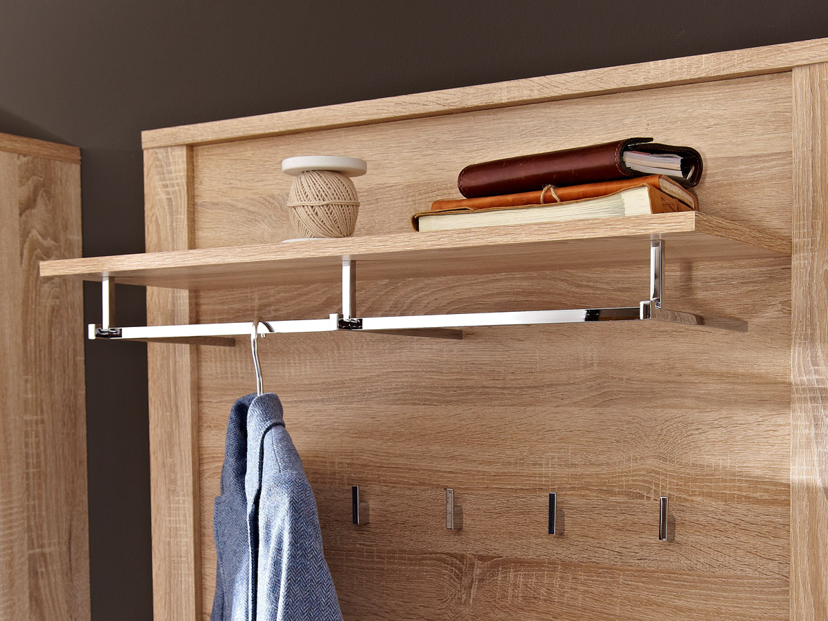 grande garderobenpaneel sonoma eiche hell. Black Bedroom Furniture Sets. Home Design Ideas