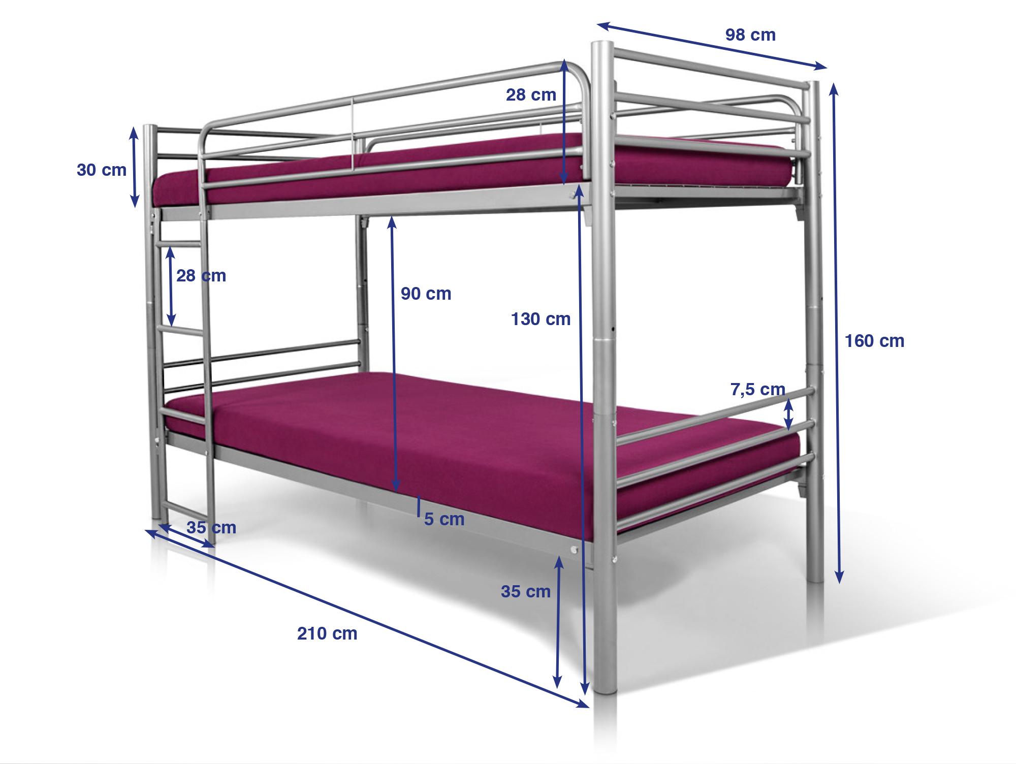 Jonny etagenbett aus metall 2 in 1 doppelstockbett t v gepr ft for Etagenbett erwachsene