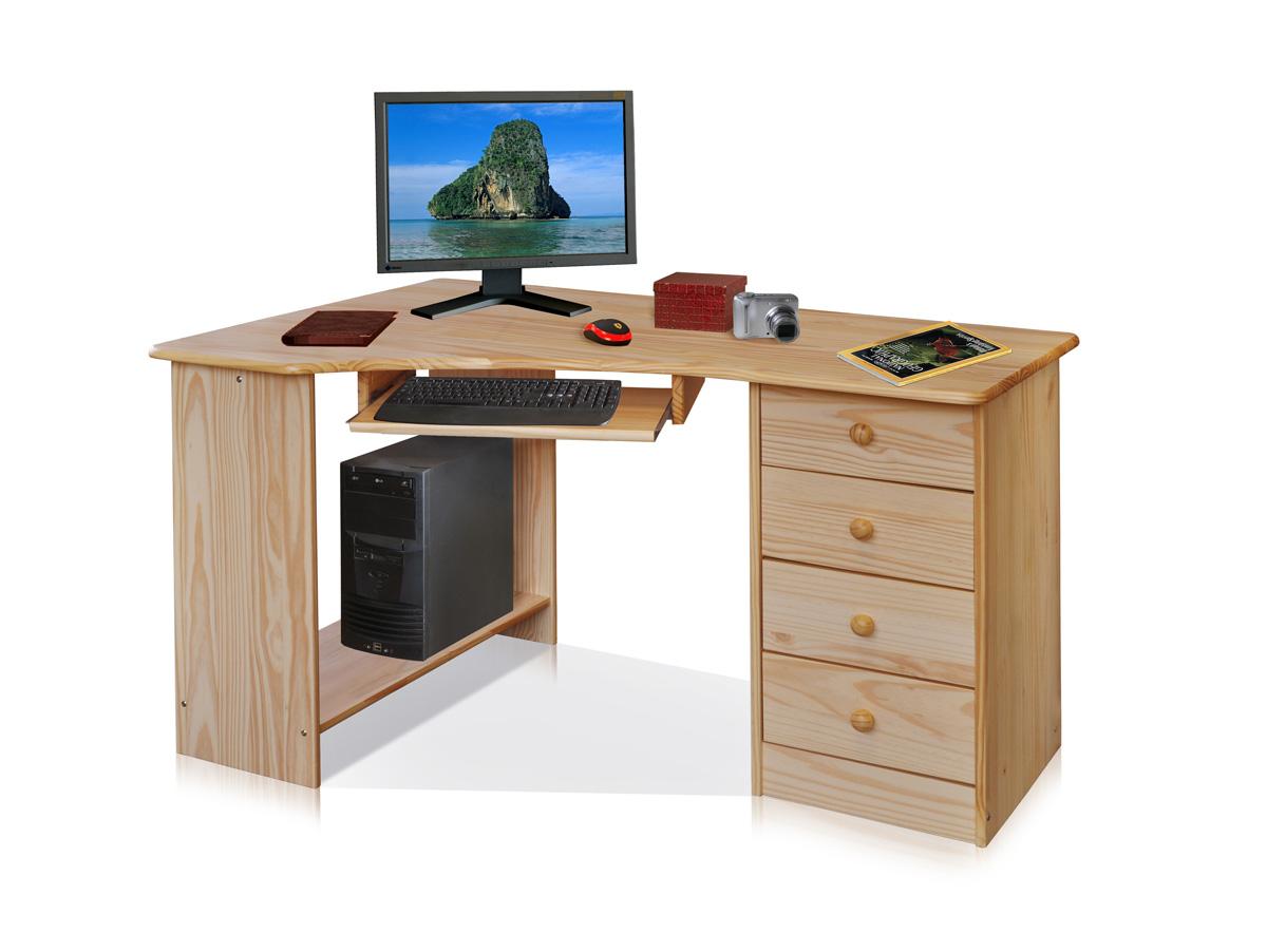 Pc eckschreibtisch  LEARD PC-Schreibtisch Kiefer lackiert