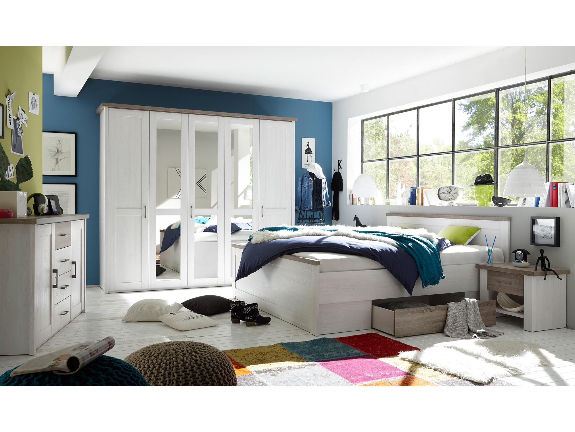 luba komplett schlafzimmer pinie weiss tr ffel. Black Bedroom Furniture Sets. Home Design Ideas