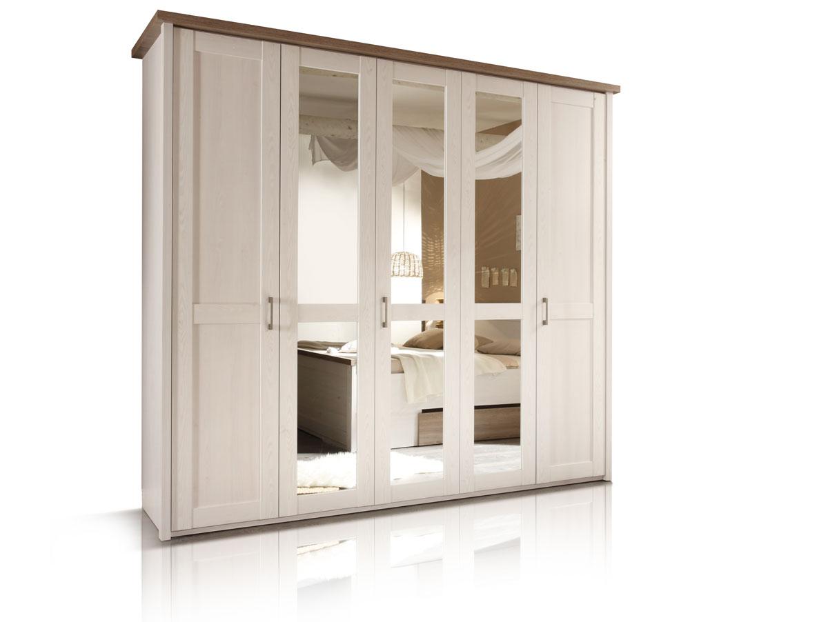 Kleiderschränke, Schlafzimmerschränke mit Schiebetüren + Drehtüren
