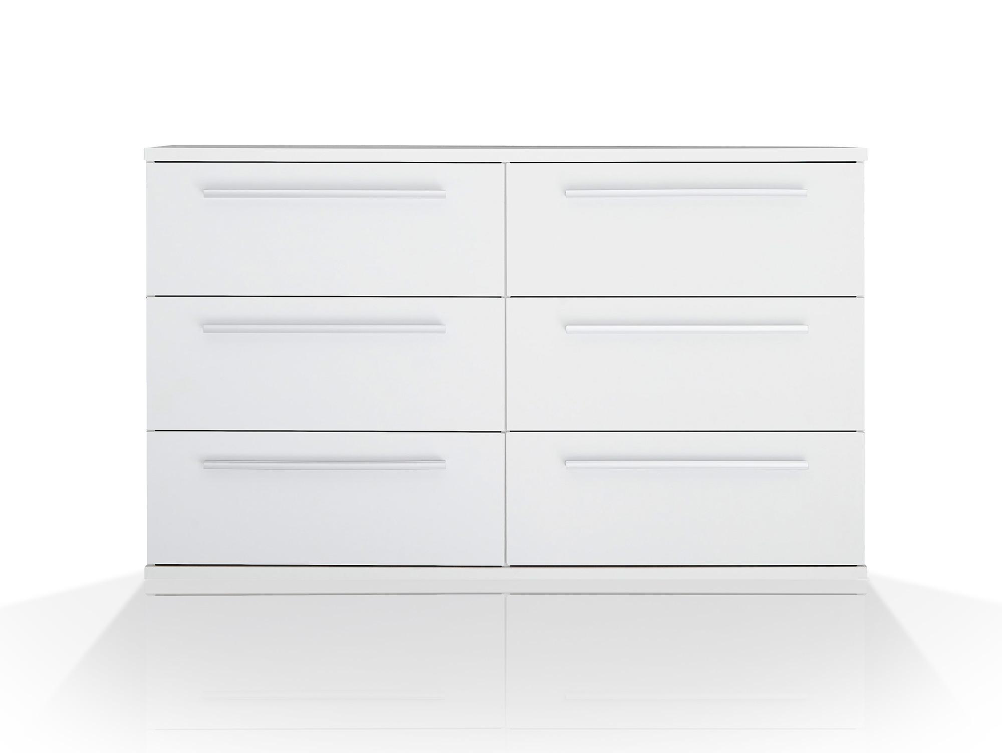 melbourne h ngekommode mit 6 sk wei. Black Bedroom Furniture Sets. Home Design Ideas