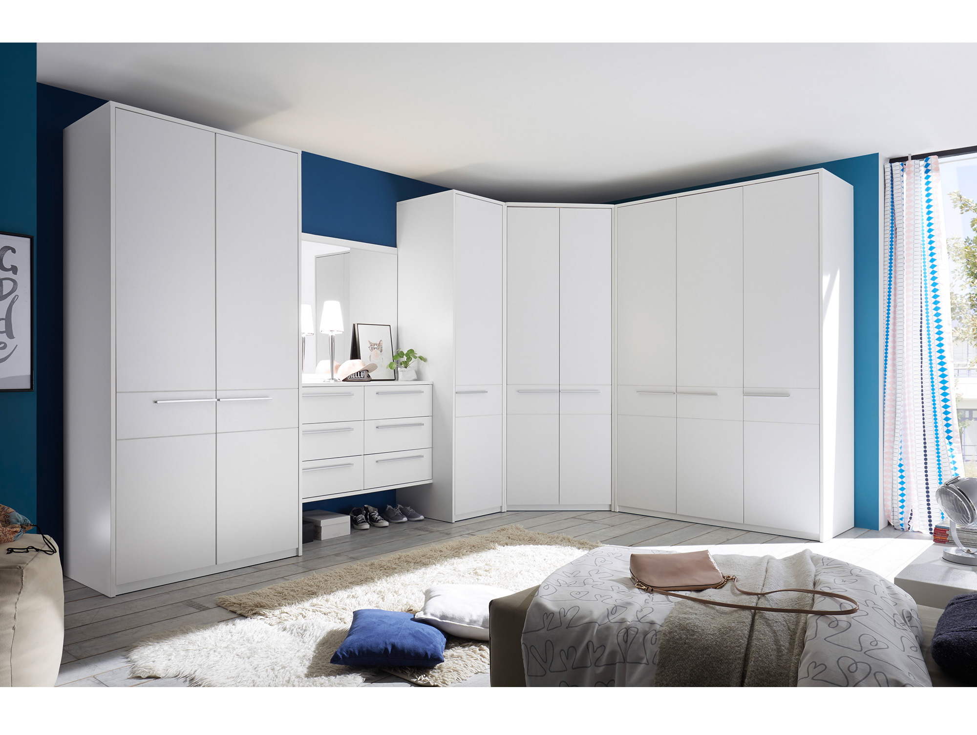 melbourne eckschrank weiss ohne t ren. Black Bedroom Furniture Sets. Home Design Ideas