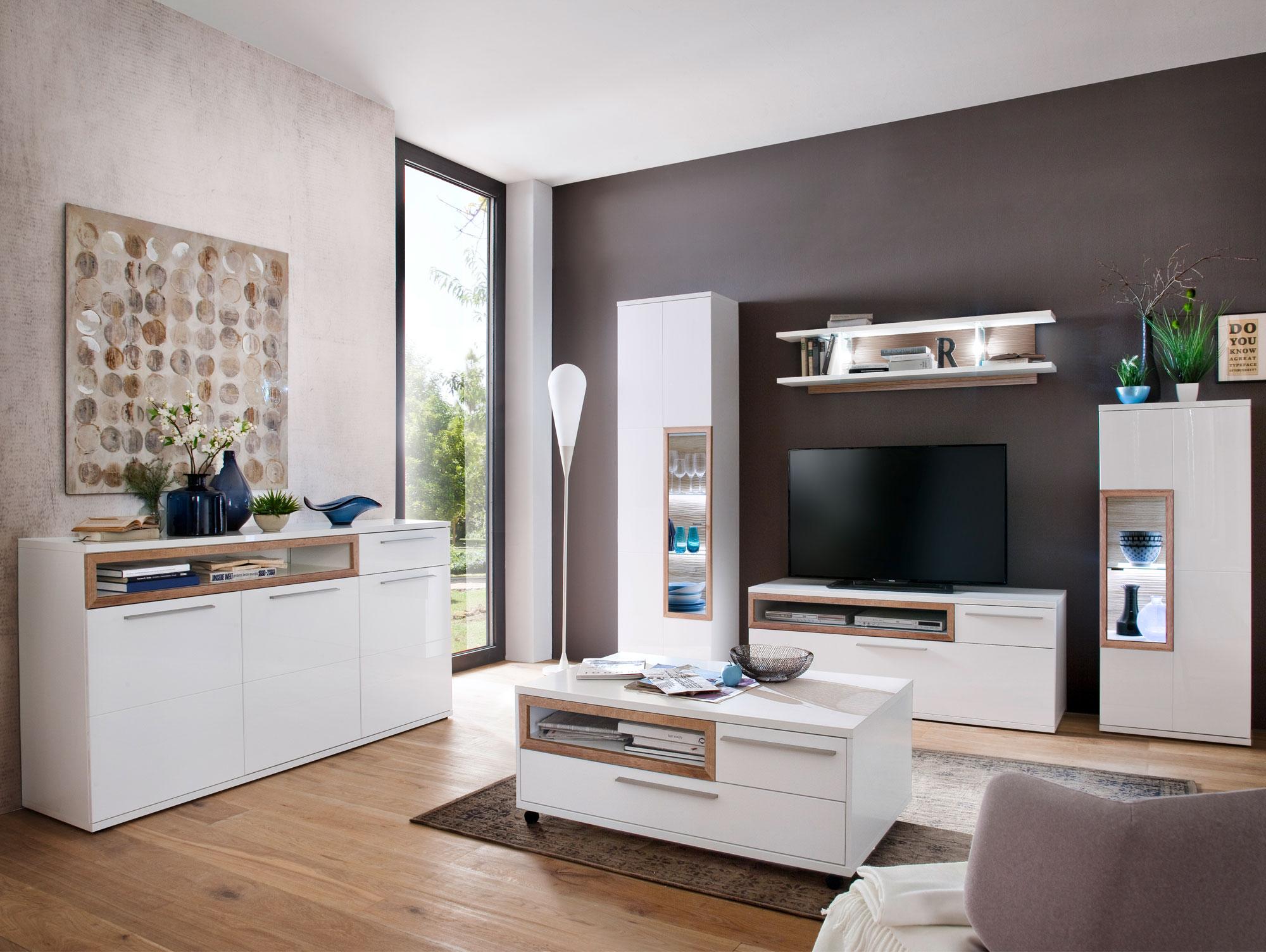 pancras highboard wei eiche riviera. Black Bedroom Furniture Sets. Home Design Ideas