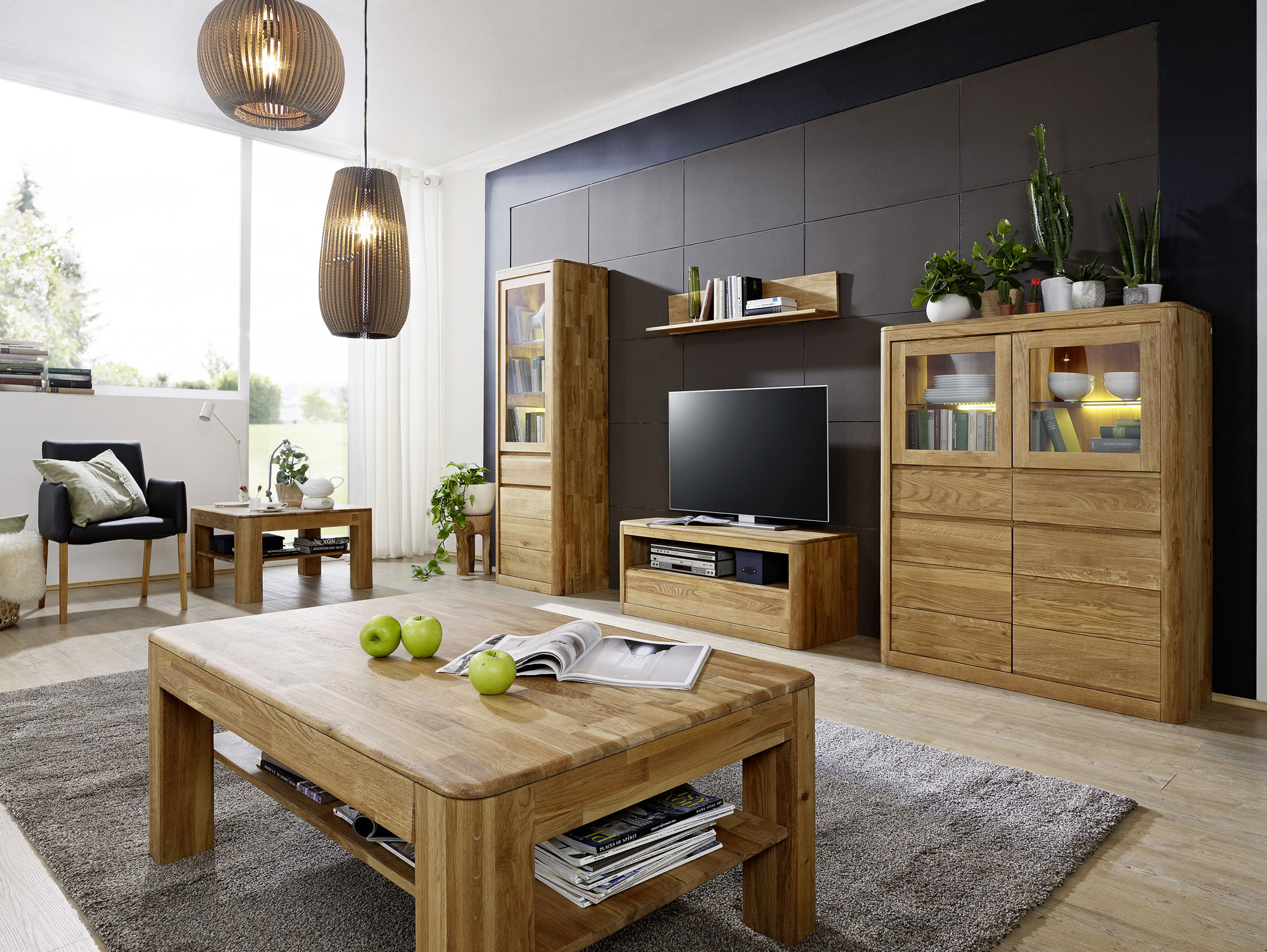 astoria i lowboard wildeiche massiv ge lt. Black Bedroom Furniture Sets. Home Design Ideas
