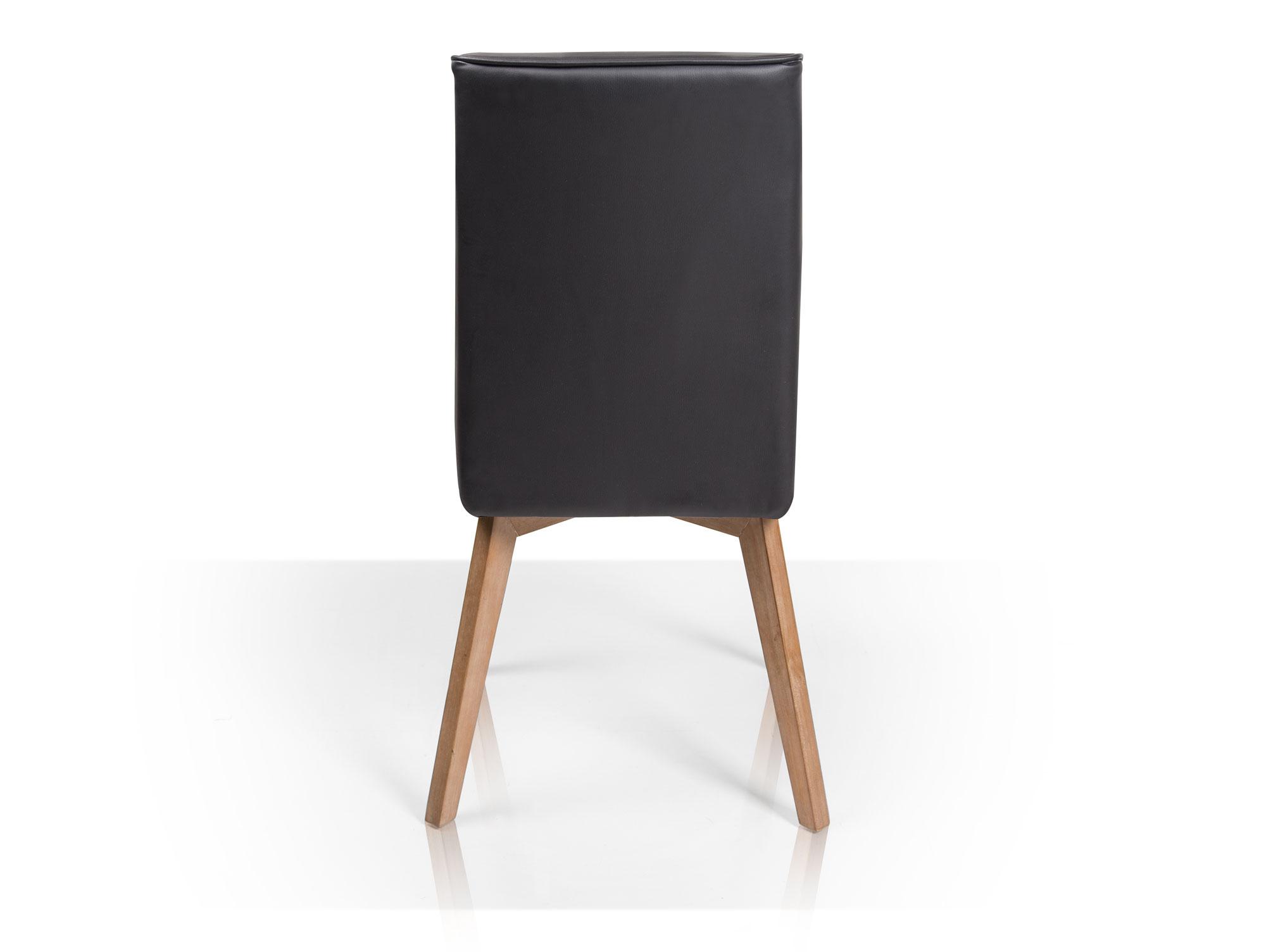 molly polsterstuhl eiche kunstleder schwarz. Black Bedroom Furniture Sets. Home Design Ideas