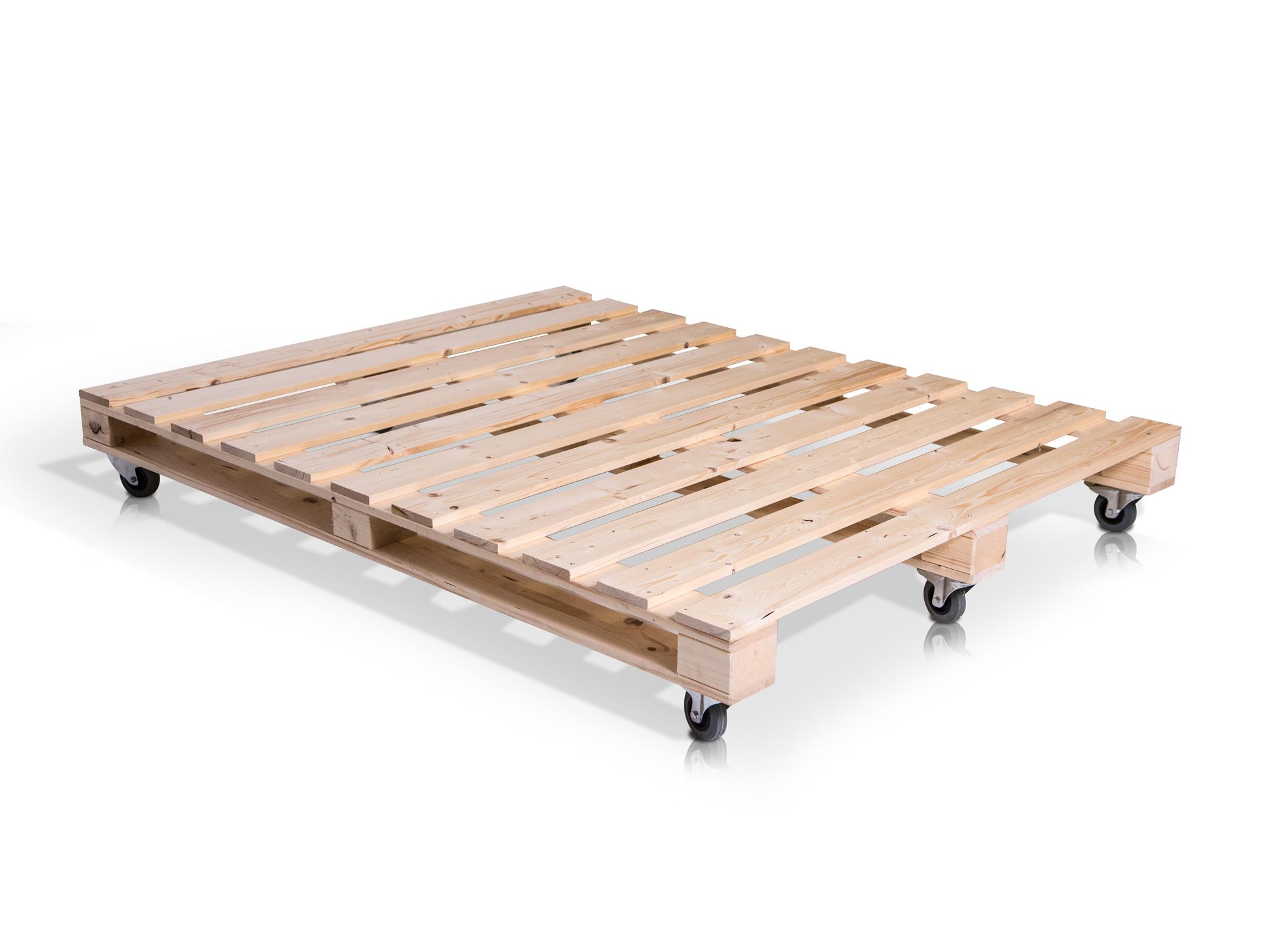 paletti duo massivholzbett aus paletten 90 x 200 cm fichte natur. Black Bedroom Furniture Sets. Home Design Ideas