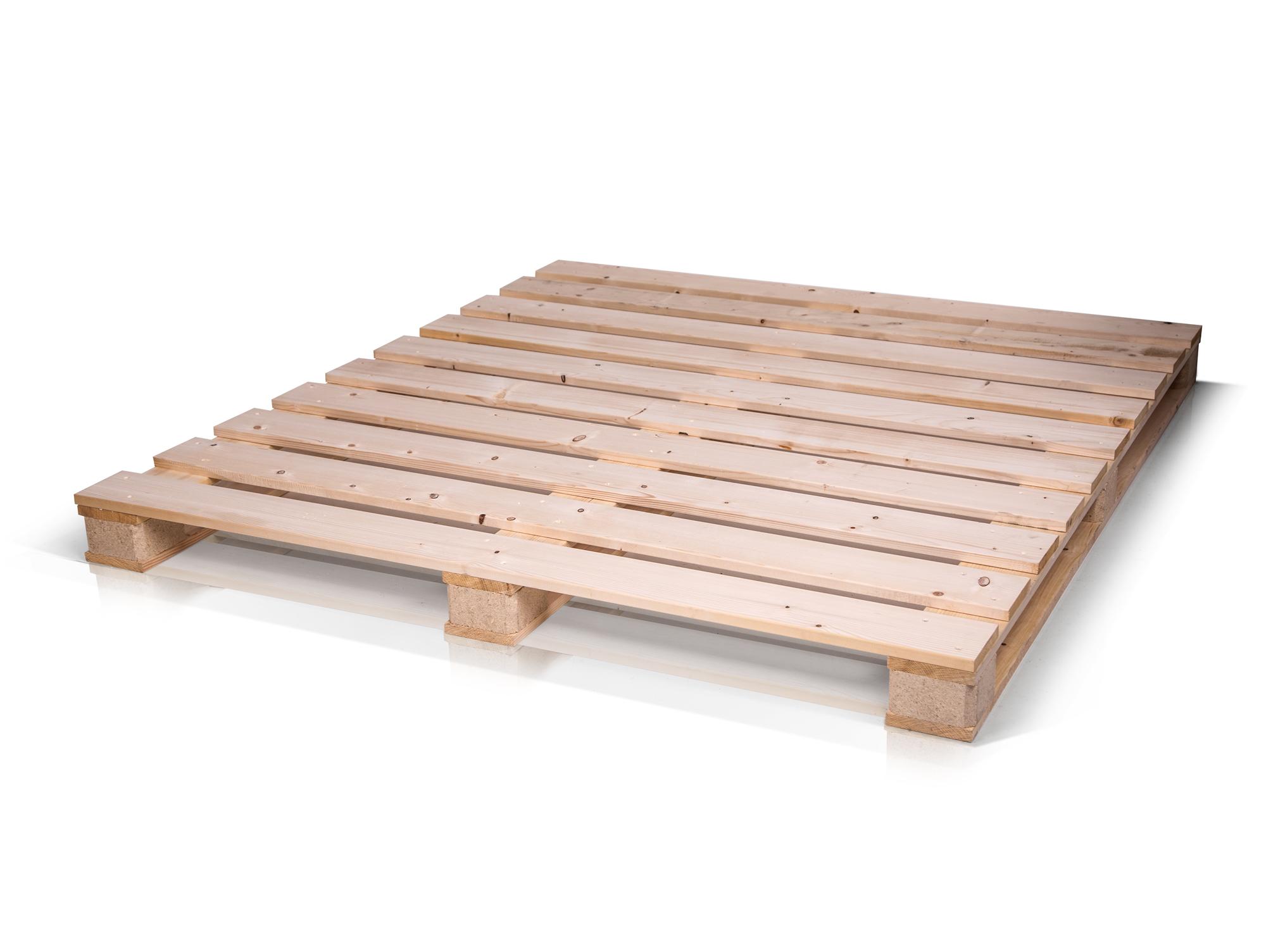 paletti massivholzbett aus paletten 180 x 200 cm fichte natur. Black Bedroom Furniture Sets. Home Design Ideas