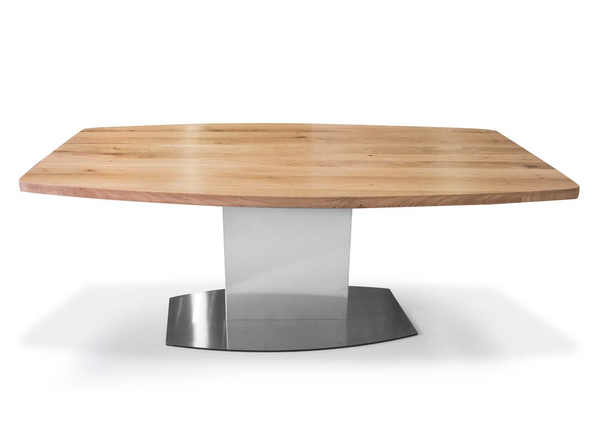 PALMA Esstisch nach Maß mit Bootsform, Material Massivholz