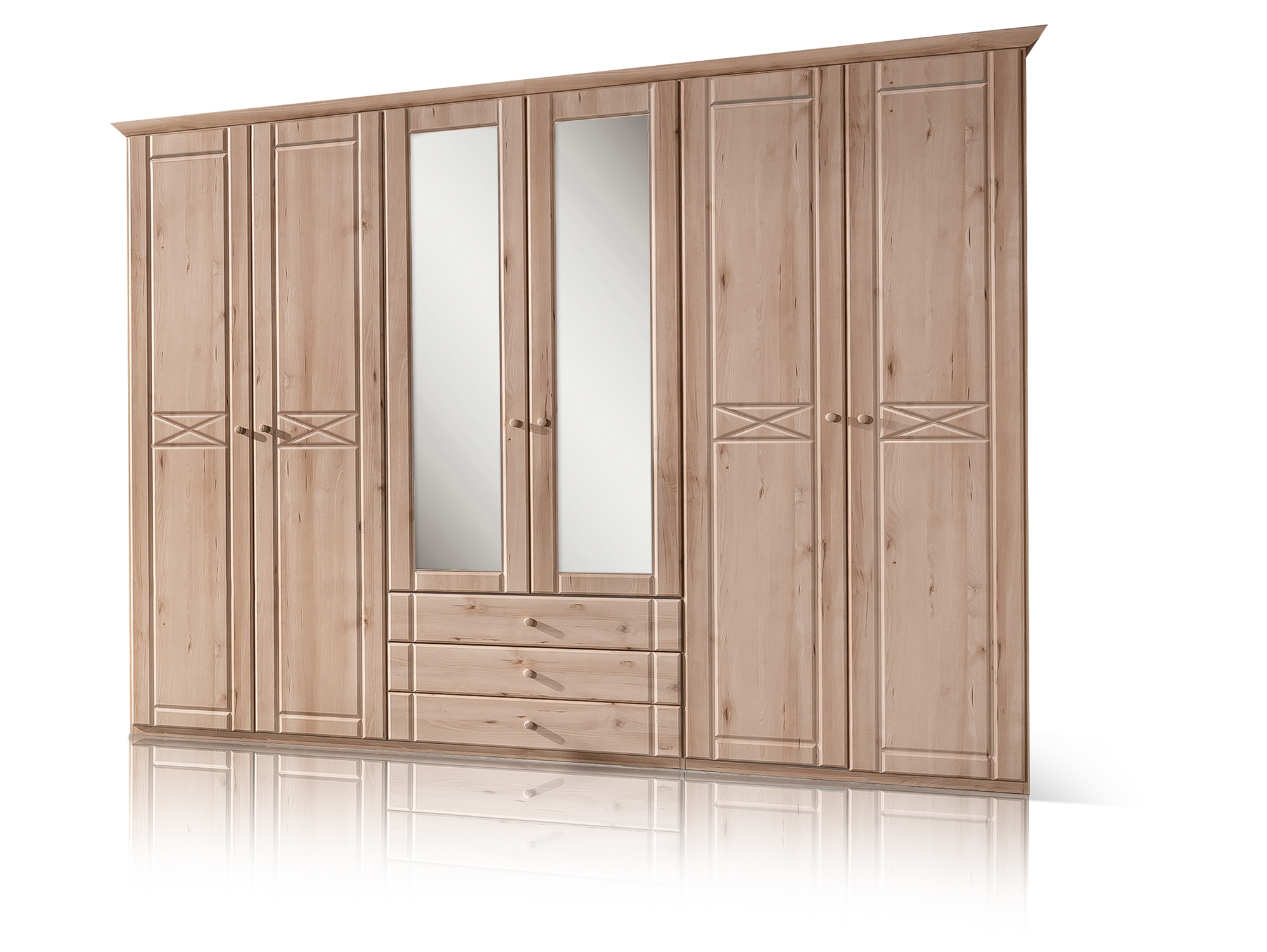 panama kleiderschrank 6trg edelbuche. Black Bedroom Furniture Sets. Home Design Ideas