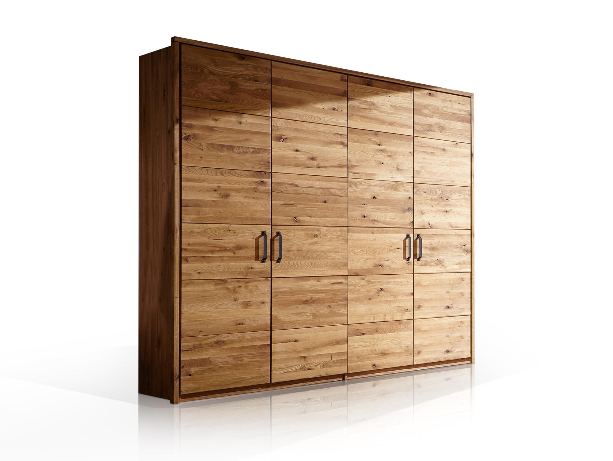 Salvador Kleiderschrank 4trg 240 Cm Material Massivholz Wildeiche
