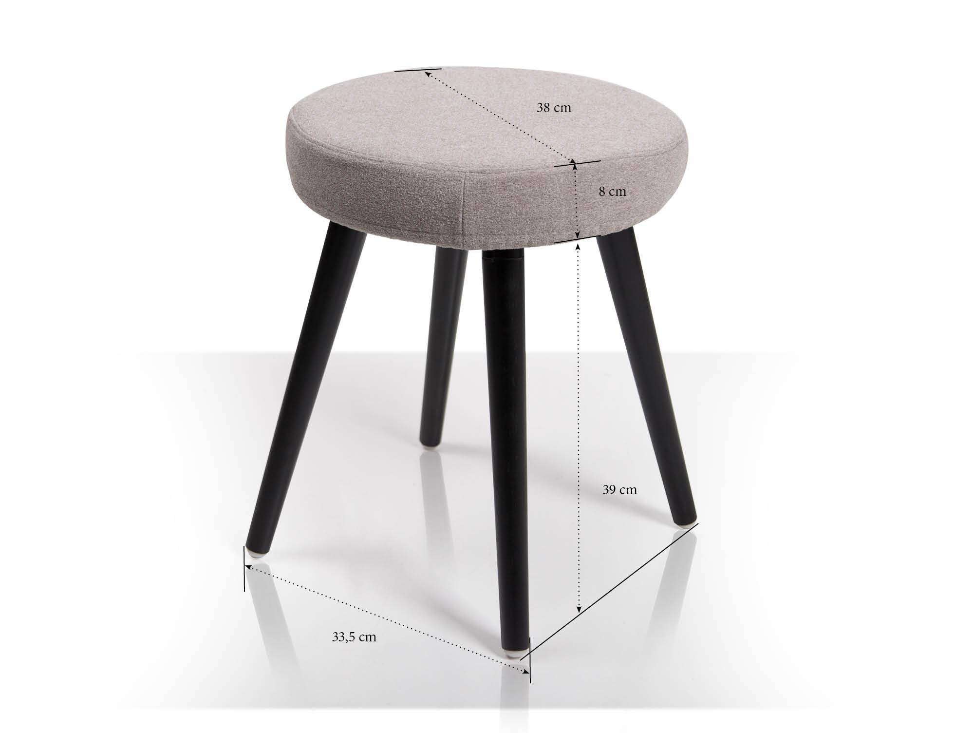 stool hocker hellgrau f e schwarz. Black Bedroom Furniture Sets. Home Design Ideas