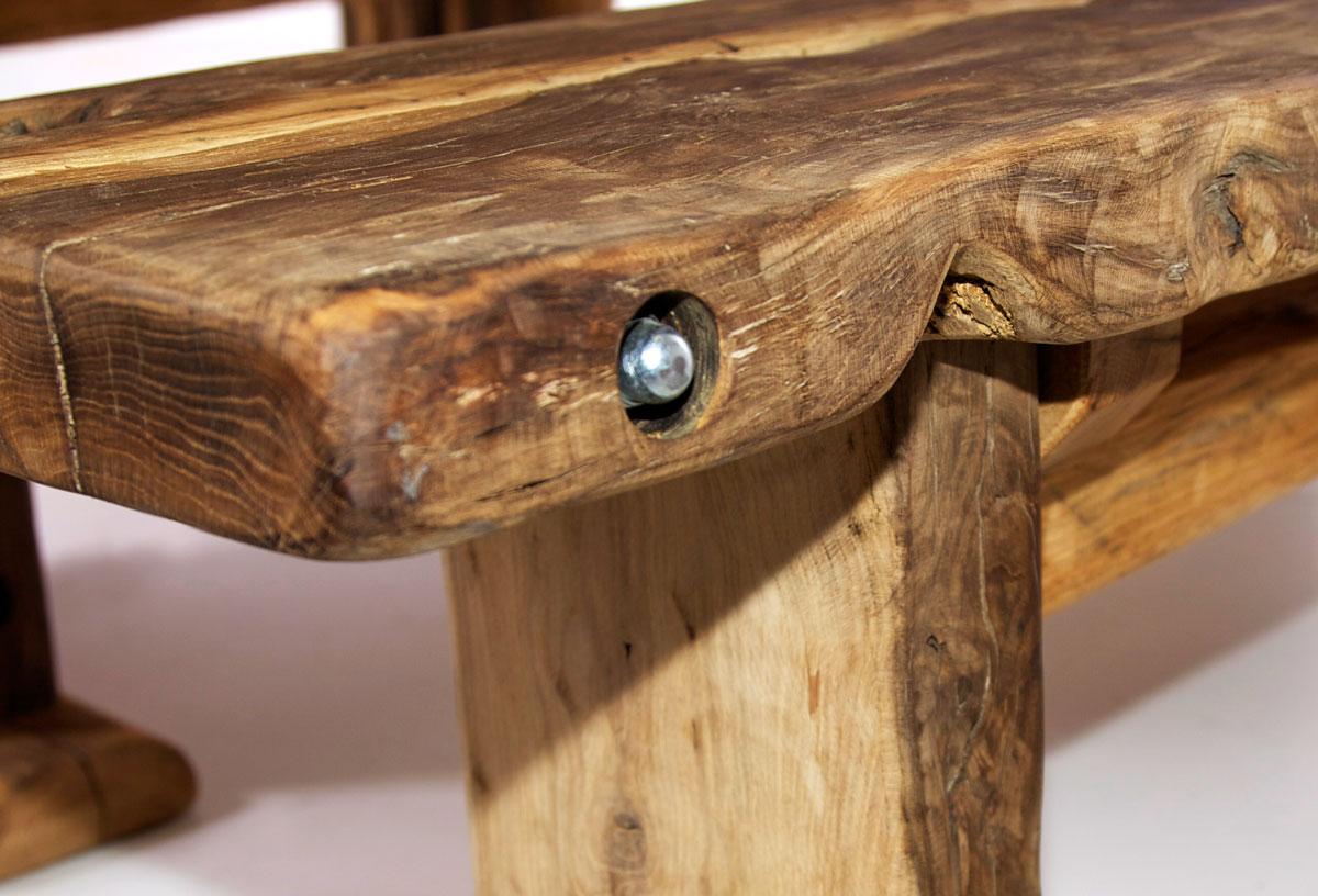 wikinger sitzbank massivholzsitzbank ohne r ckenlehne 200 cm unbehandelt. Black Bedroom Furniture Sets. Home Design Ideas