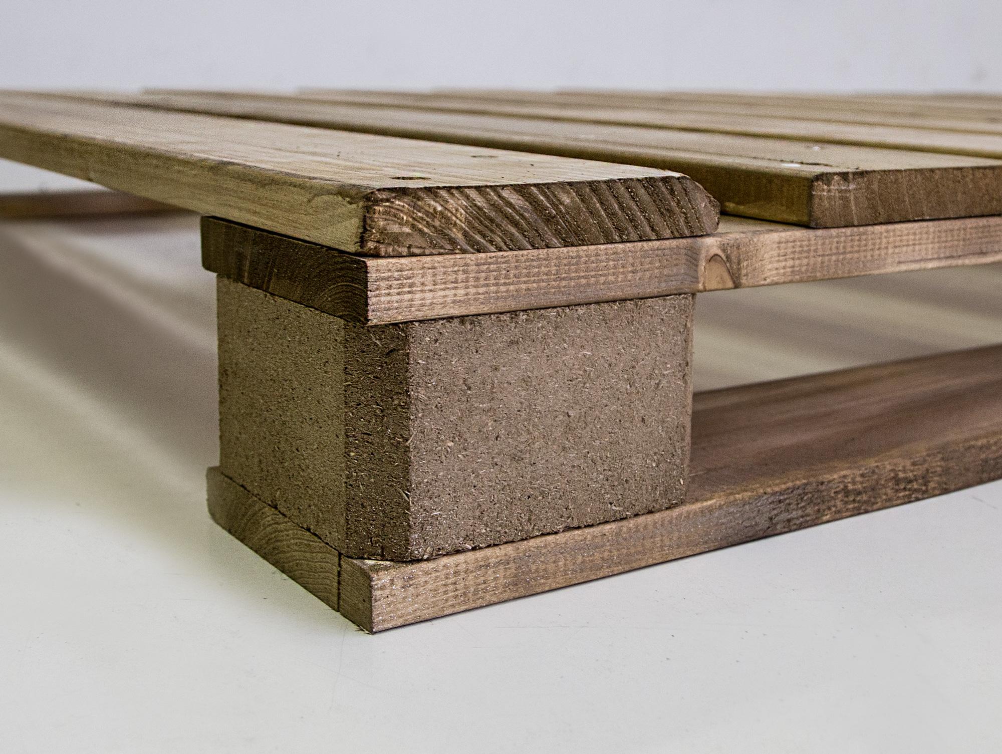 Massivholzbetten rustikal  PALETTI Massivholzbett aus Paletten Rustikal/Vintage gebeizt 90 x ...
