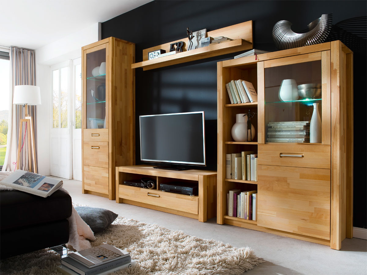fanja tv element massiv kernbuche. Black Bedroom Furniture Sets. Home Design Ideas