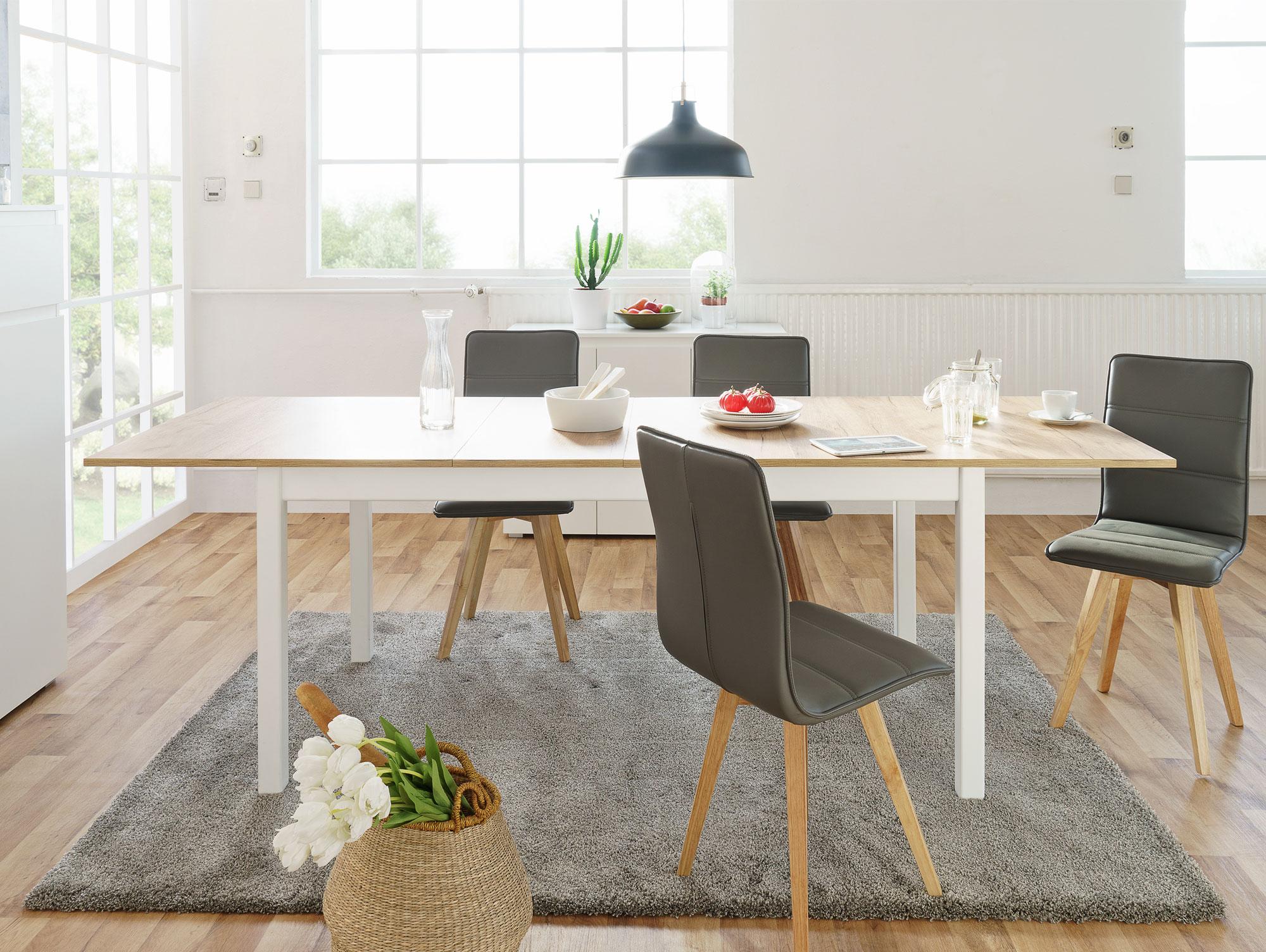 stockholm ii esstisch wei eiche honig. Black Bedroom Furniture Sets. Home Design Ideas