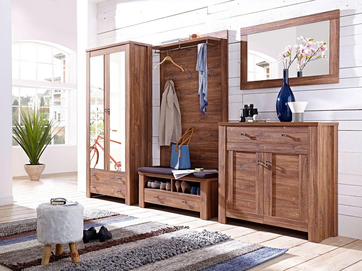 bern iii garderobenschrank akazie dunkel. Black Bedroom Furniture Sets. Home Design Ideas