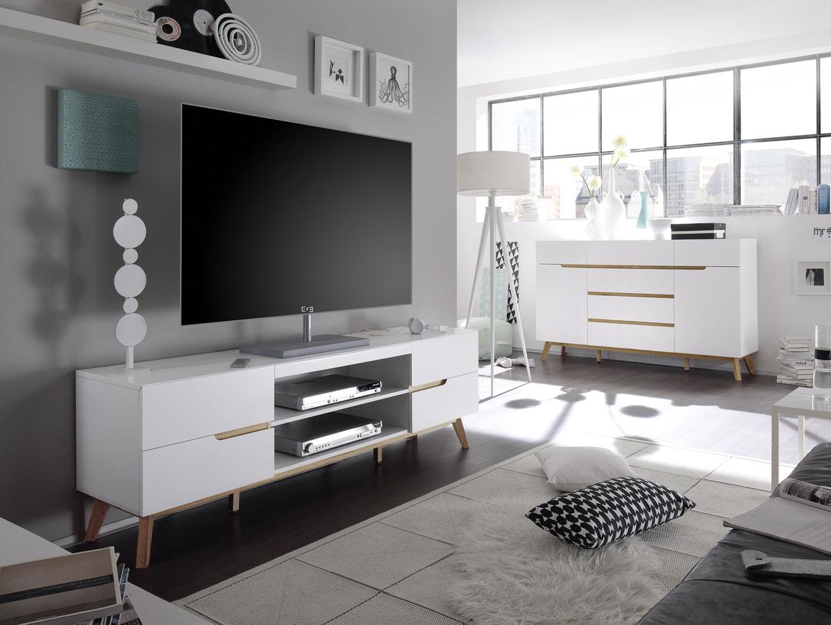 cava lowboard matt wei eichefarbig. Black Bedroom Furniture Sets. Home Design Ideas