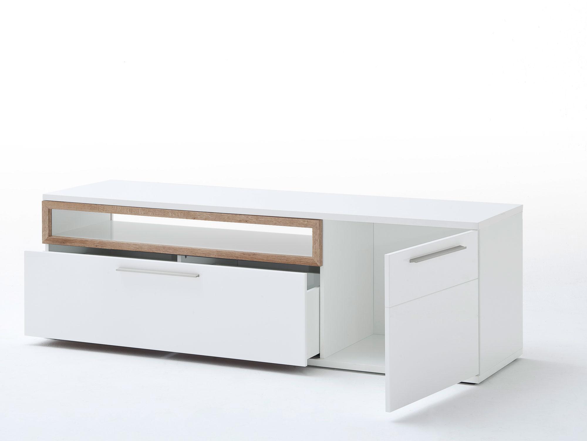 pancras iii wohnwand wei eiche riviera. Black Bedroom Furniture Sets. Home Design Ideas