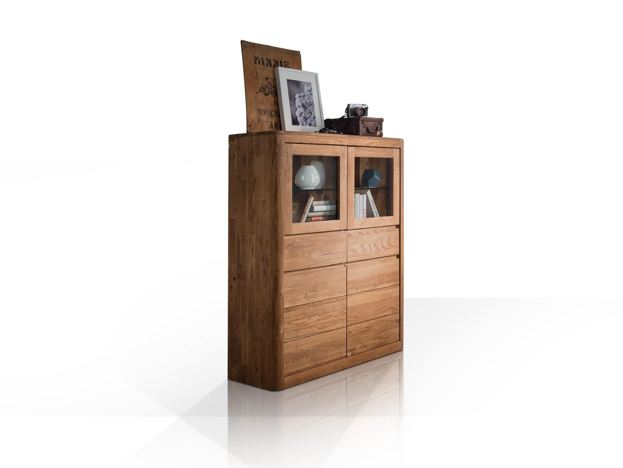astoria ii highboard wildeiche massiv ge lt. Black Bedroom Furniture Sets. Home Design Ideas