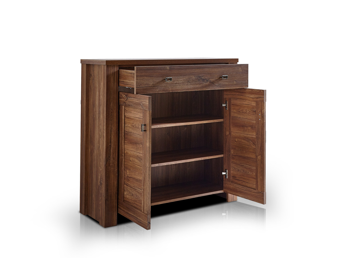 bern schuhschrank mit 2 t ren akazie dunkel. Black Bedroom Furniture Sets. Home Design Ideas