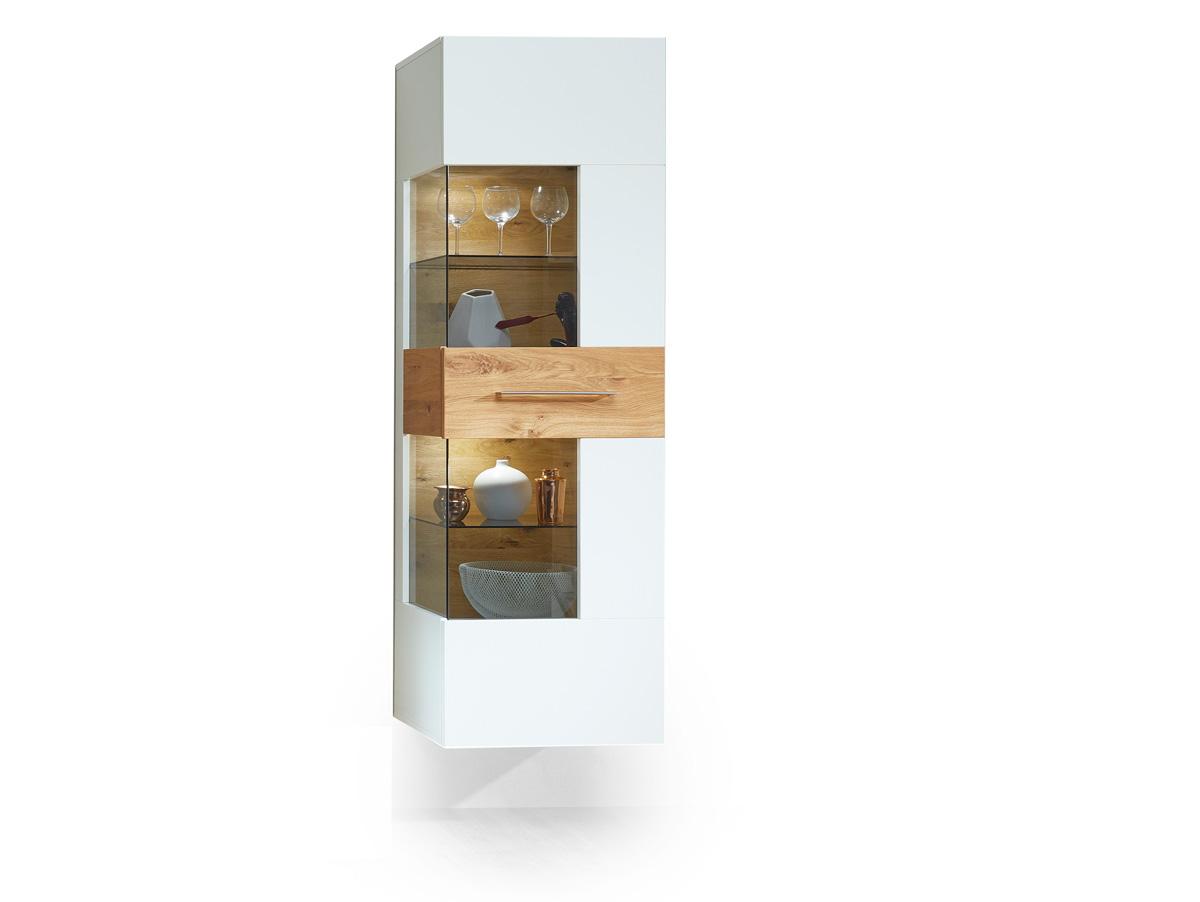 fox h ngevitrine wei wildeiche. Black Bedroom Furniture Sets. Home Design Ideas