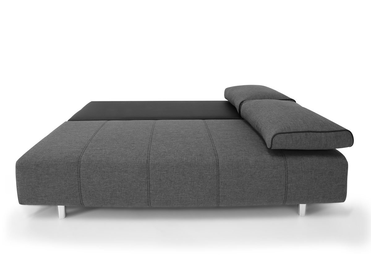 inka schlafsofa schlafcouch schwarz anthrazit. Black Bedroom Furniture Sets. Home Design Ideas