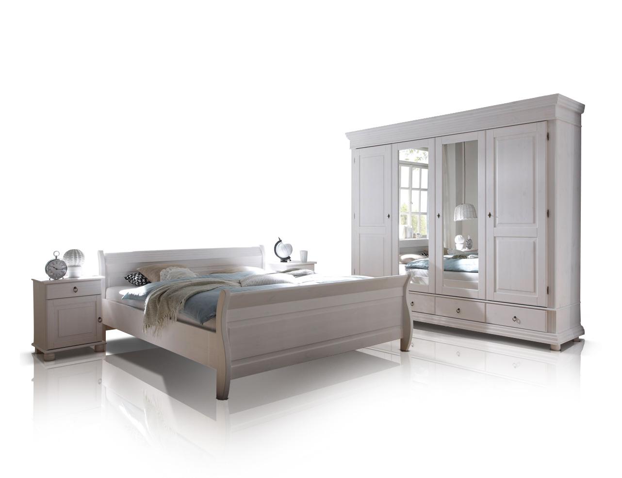 oxford komplett schlafzimmer kiefer wei. Black Bedroom Furniture Sets. Home Design Ideas