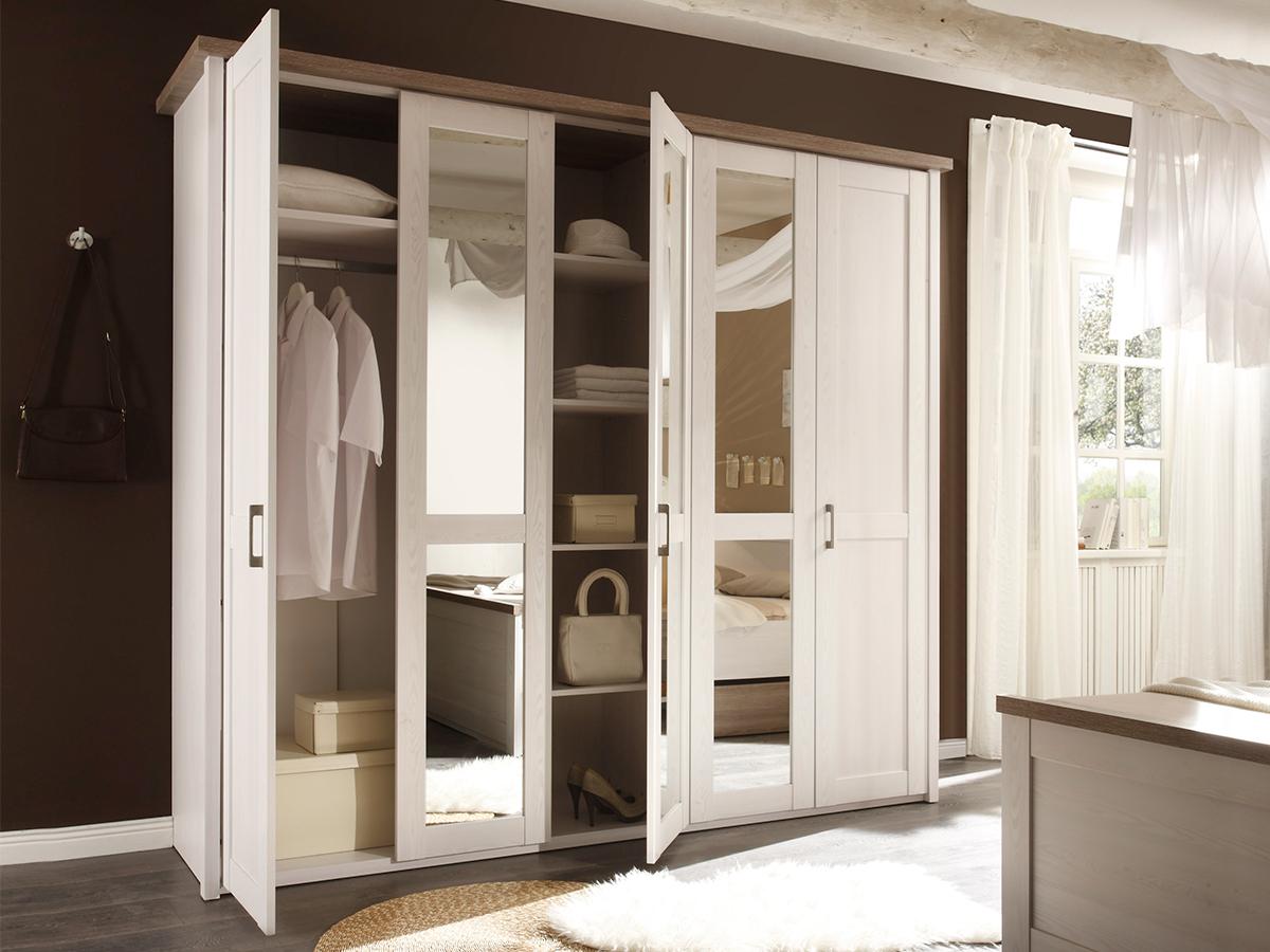 noah schlafzimmer 180x200 cm pinie weiss tr ffel. Black Bedroom Furniture Sets. Home Design Ideas