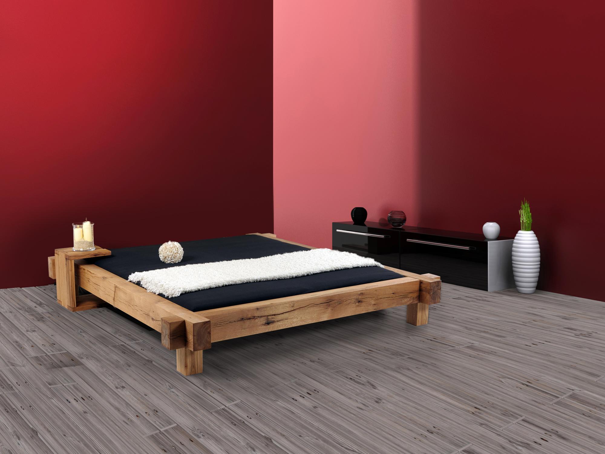 maito doppelbett massivholzbett sumpfeiche ge lt 180 x 200 cm unbehandelt ohne kopfteil. Black Bedroom Furniture Sets. Home Design Ideas