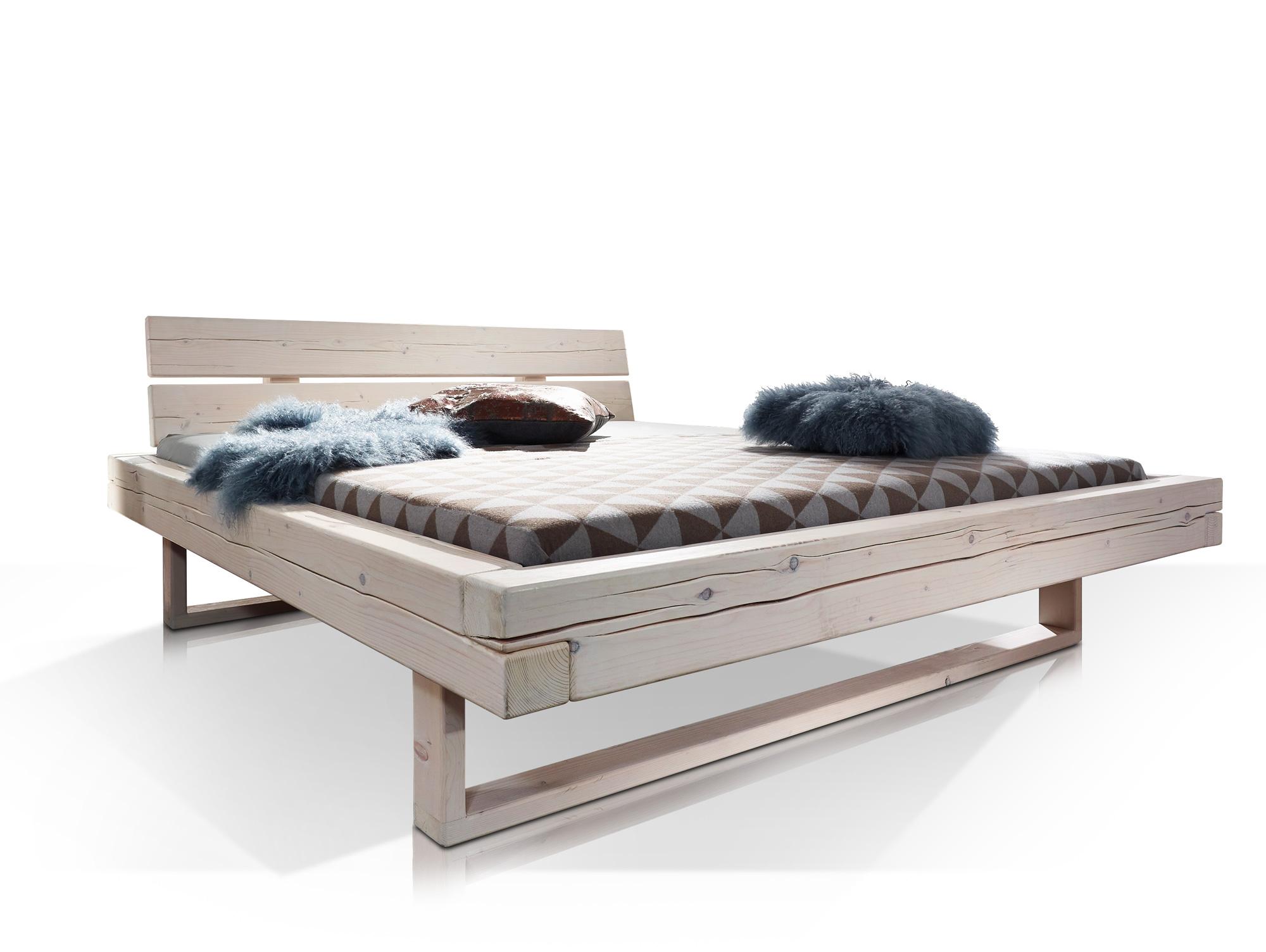 rob massivholzbett fichte weiss lasiert 160 x 200 cm. Black Bedroom Furniture Sets. Home Design Ideas