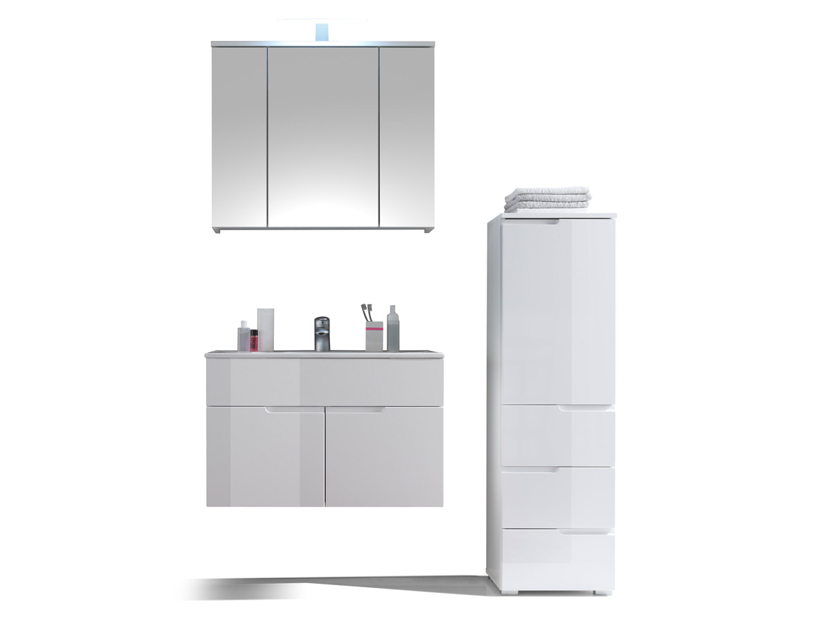 sandra badezimmer set 3tlg wei. Black Bedroom Furniture Sets. Home Design Ideas