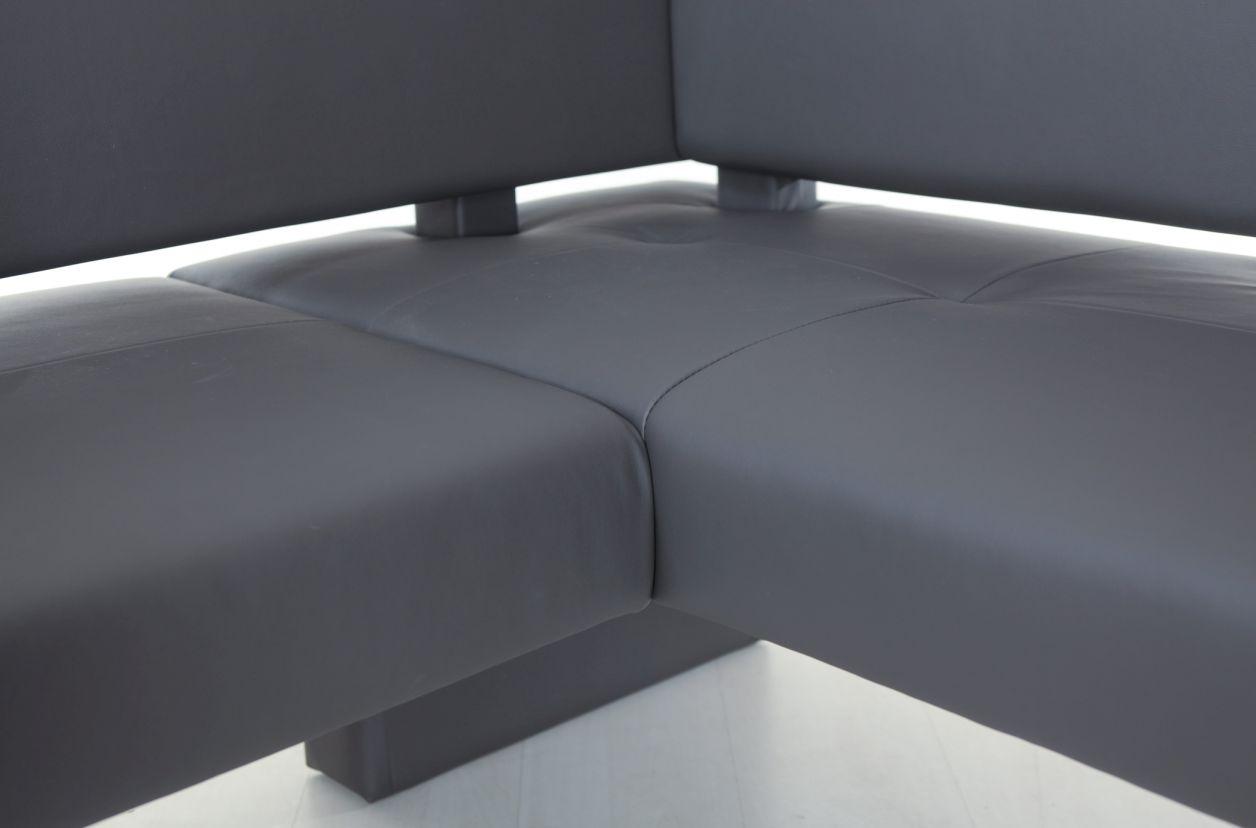 spider domino eckbank mit kunstlederbezug braun rechts 167 x 147 cm. Black Bedroom Furniture Sets. Home Design Ideas