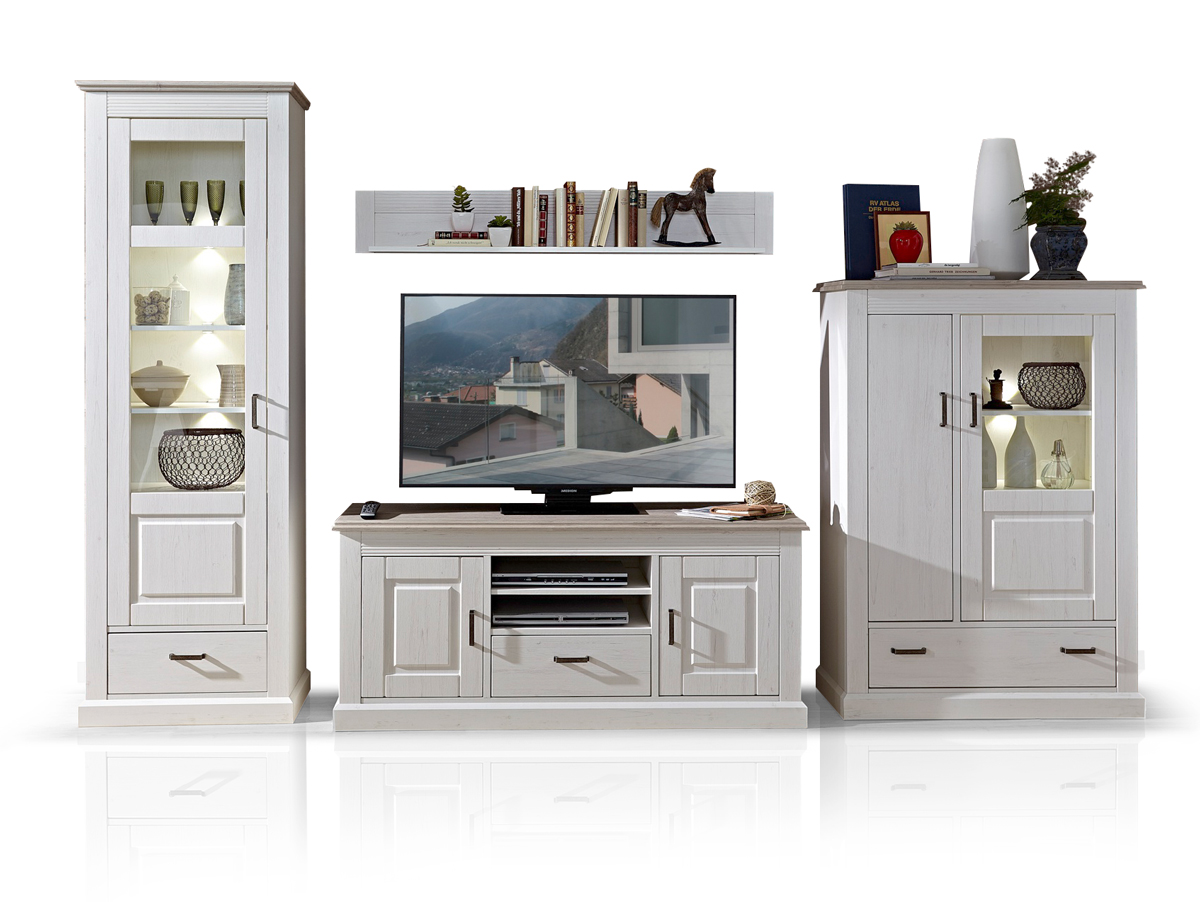 luisa i wohnwand pinie hell taupe. Black Bedroom Furniture Sets. Home Design Ideas