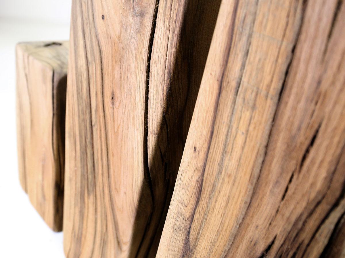 Nelke hocker / ständer / deko holzbalken 80 cm groß sumpfeiche