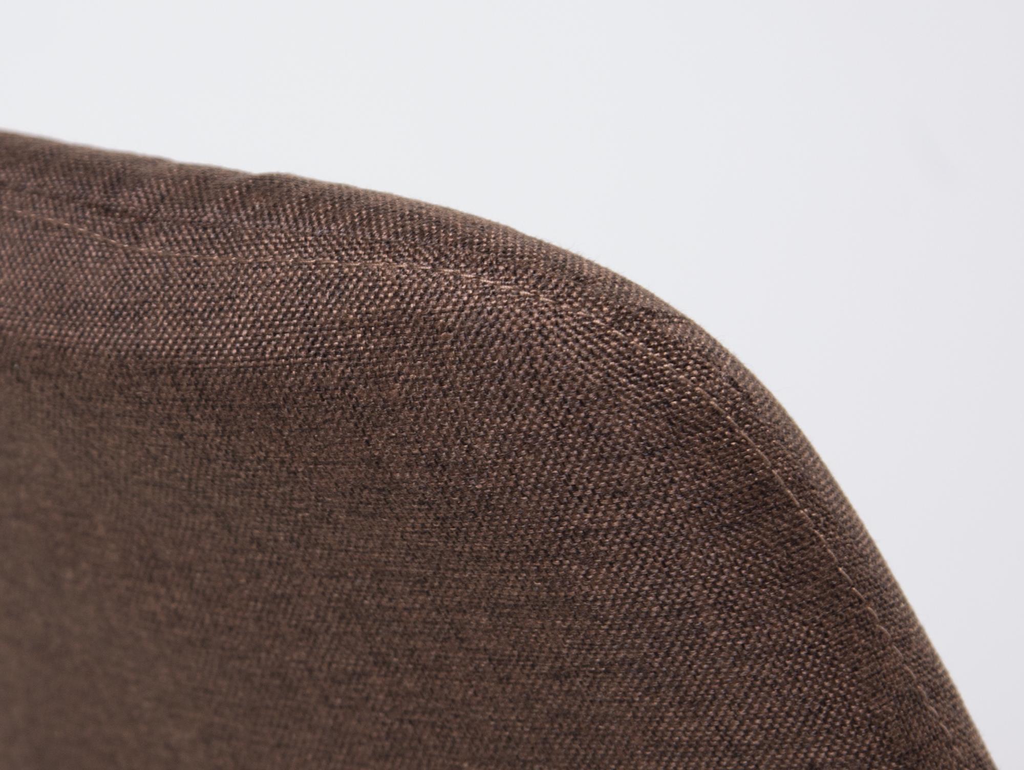 Pitu esstischstuhl schalenstuhl stoffbezug dunkelbraun for Schalenstuhl beige