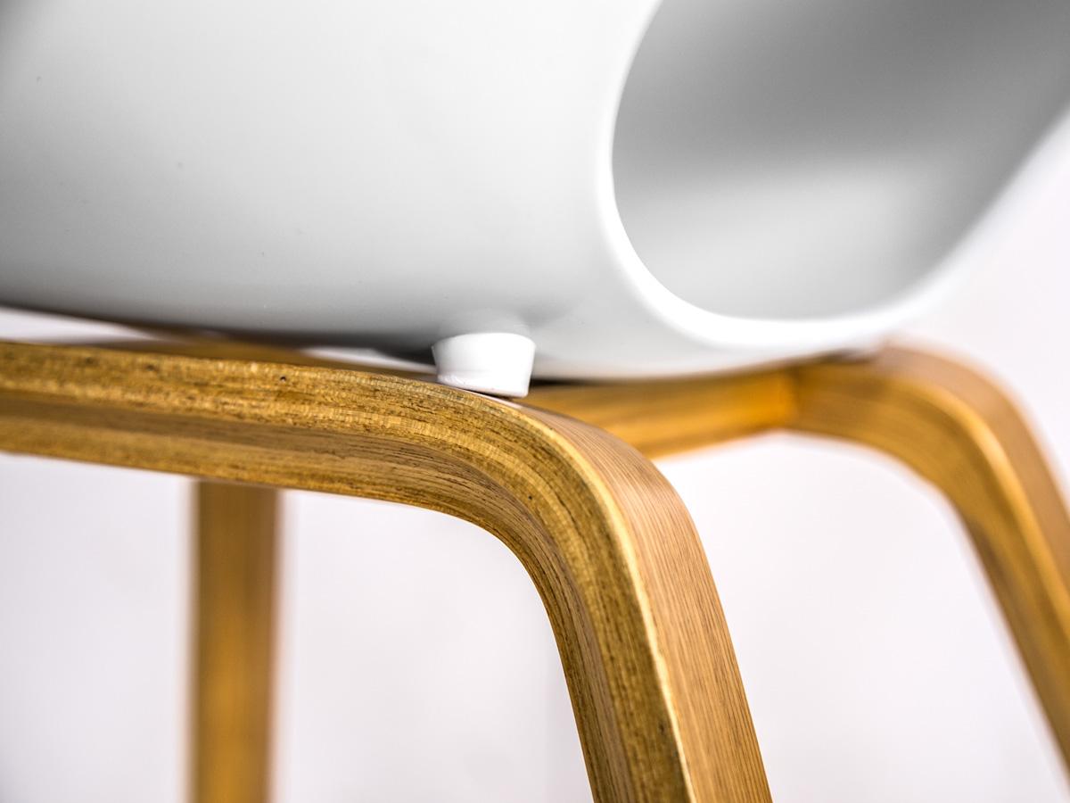 Esstischstuhl Weiß retro esstischstuhl kunststoff weiß