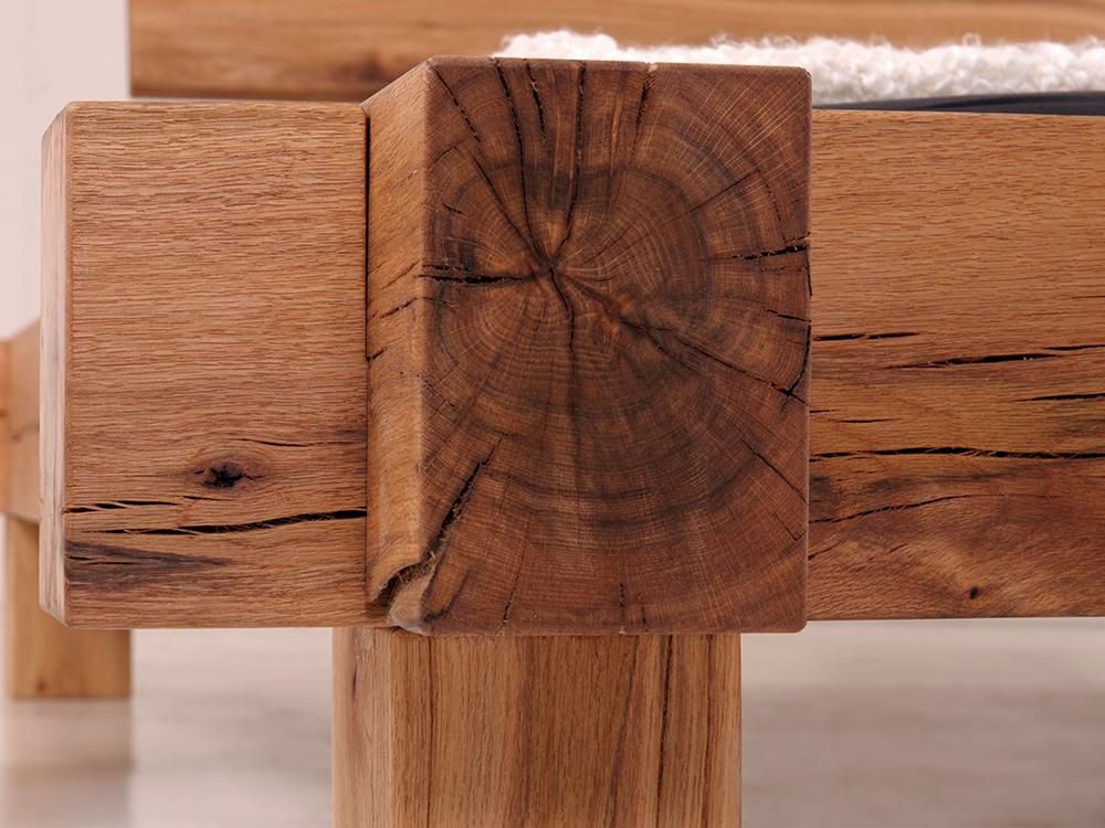 bermuda doppelbett massivholzbett sumpfeiche 140 x 200 cm unbehandelt ohne kopfteil. Black Bedroom Furniture Sets. Home Design Ideas