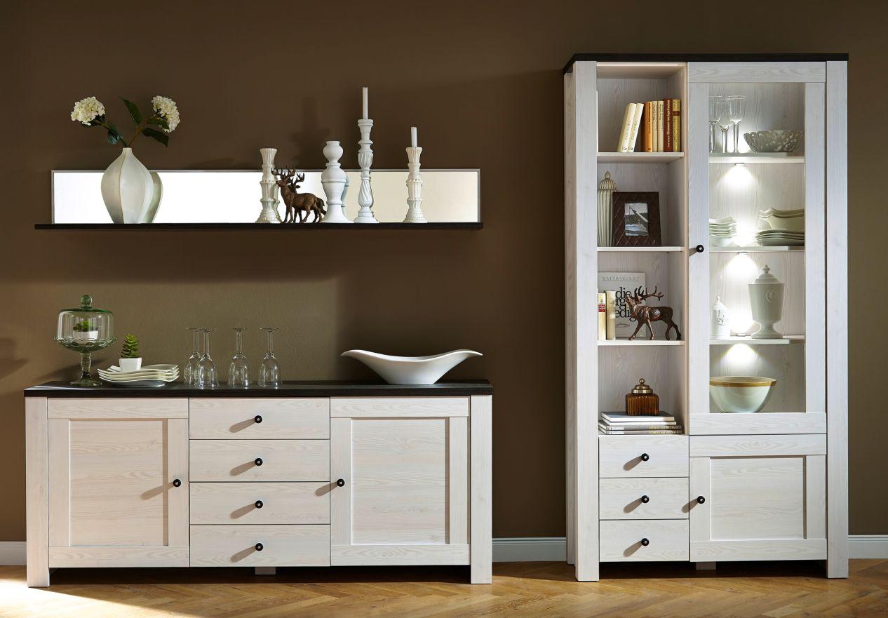 antwerpen vitrine l rche pinie dunkel. Black Bedroom Furniture Sets. Home Design Ideas