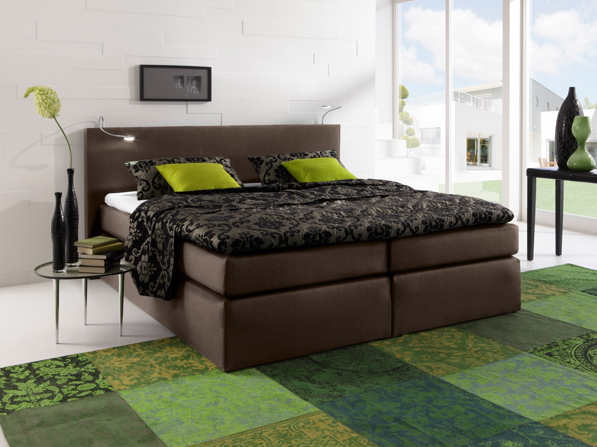 led beleuchtung f r boxspringbett 2er set alu farbig. Black Bedroom Furniture Sets. Home Design Ideas