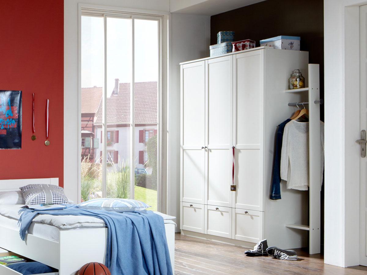 fee kleiderschrank 3 t rig weiss. Black Bedroom Furniture Sets. Home Design Ideas