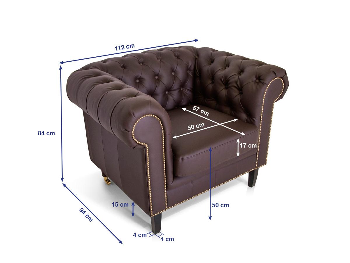 chesterfield sessel santos kunstleder braun. Black Bedroom Furniture Sets. Home Design Ideas