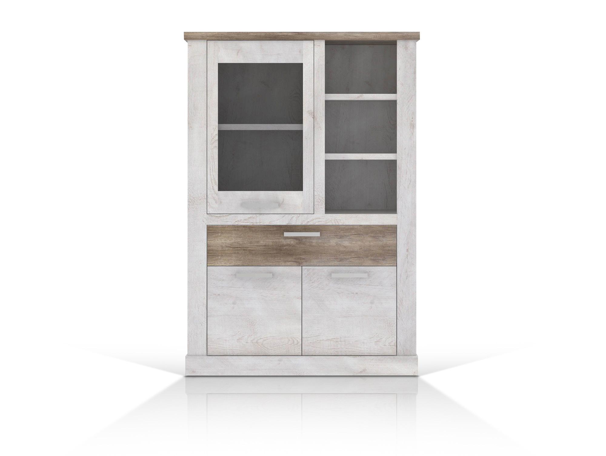 dario ii wohnwand pinie weiss. Black Bedroom Furniture Sets. Home Design Ideas