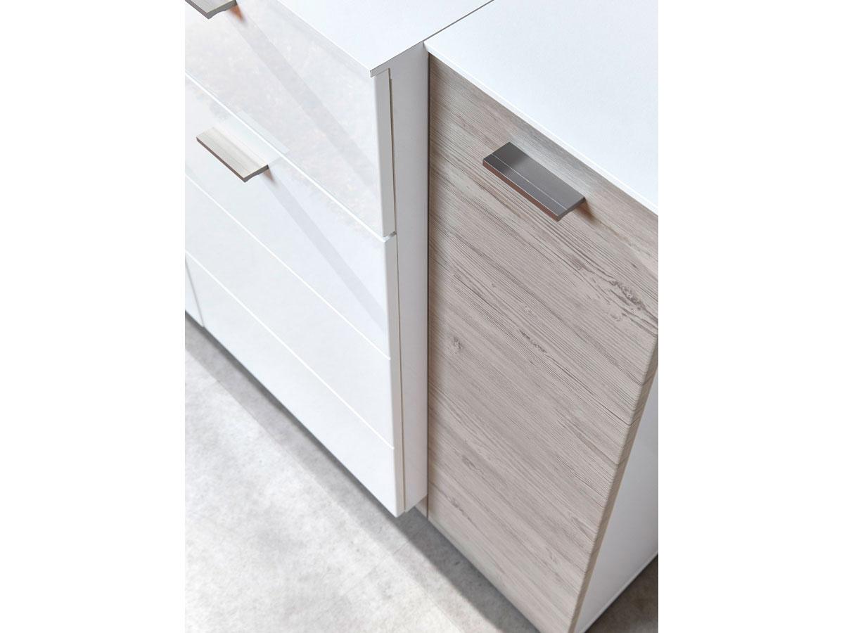 dublin kommode klein wei taupe. Black Bedroom Furniture Sets. Home Design Ideas