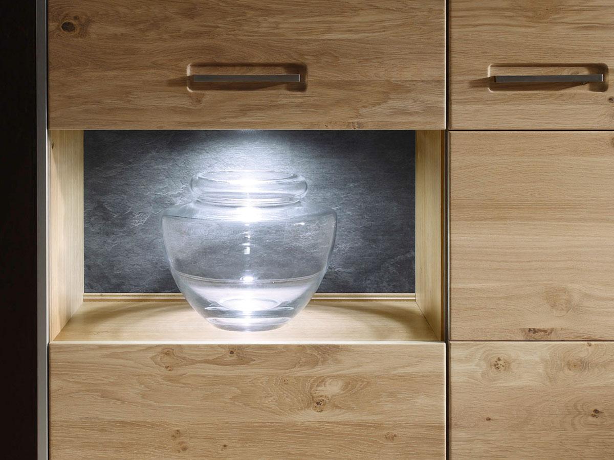 ENERGY III Wohnwand Asteiche Bianco