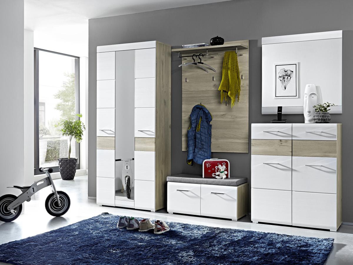 frederik garderobenschrank weiss silbereiche. Black Bedroom Furniture Sets. Home Design Ideas