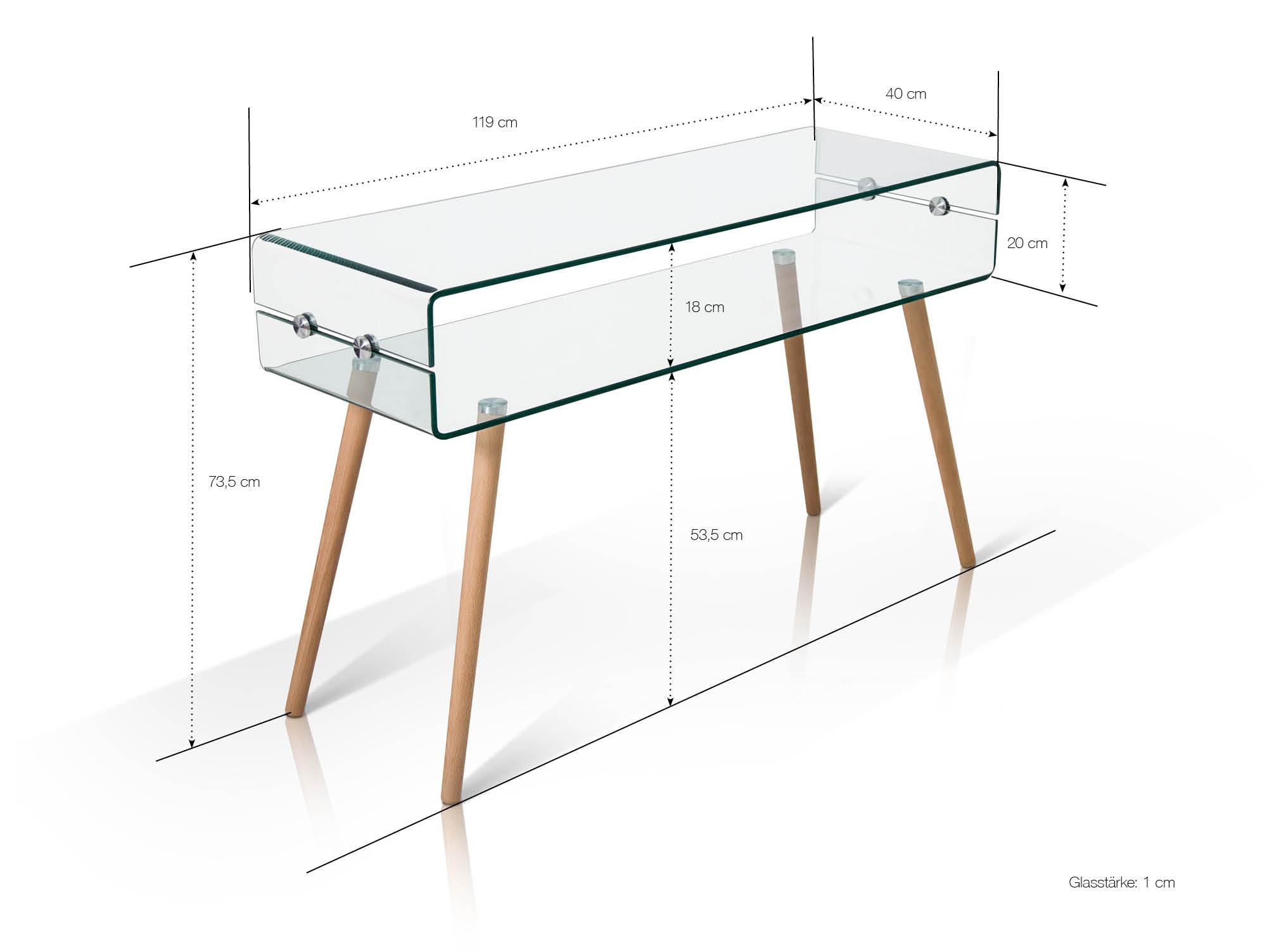 regina beistelltisch glas f e buche. Black Bedroom Furniture Sets. Home Design Ideas