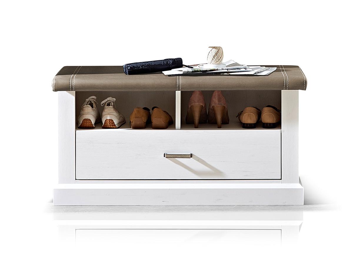 louisa sitzbank inkl kissen pinie hell taupe. Black Bedroom Furniture Sets. Home Design Ideas