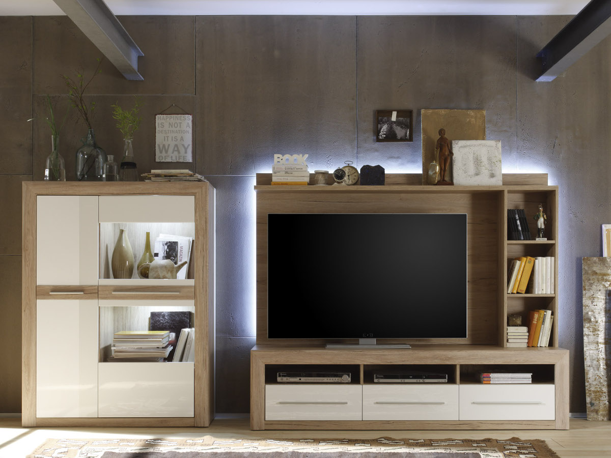 miriam tv wandboard san remo sand. Black Bedroom Furniture Sets. Home Design Ideas