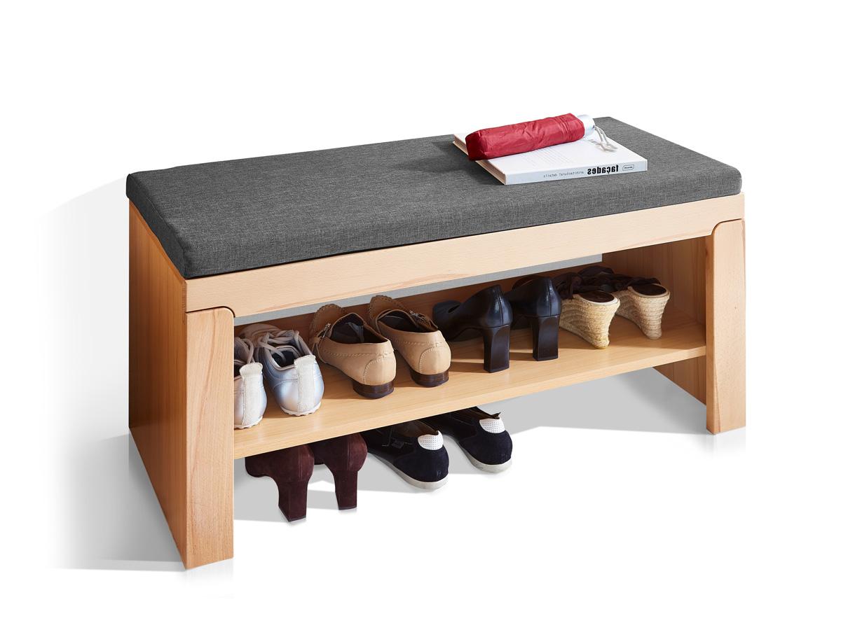 neptun sitzbank inkl kissen anthrazit kernbuche. Black Bedroom Furniture Sets. Home Design Ideas